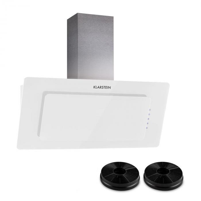 Klarstein Lorea 90 hotte aspirante 2 filtres à charbon actif inclus blanc