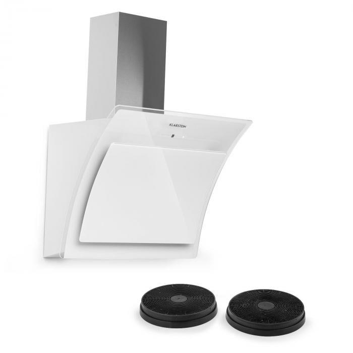 Klarstein Set Sabia 60 Hotte aspirante 60cm + 2 filtres à charbon actif - blanc