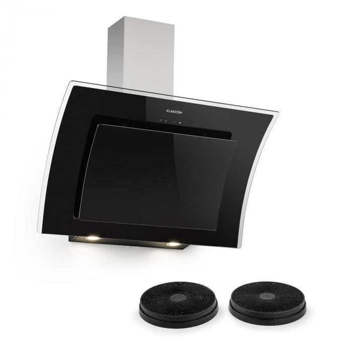 Klarstein Set Sabia 90 Hotte aspirante 90cm + 2 filtres à charbon actif - noir