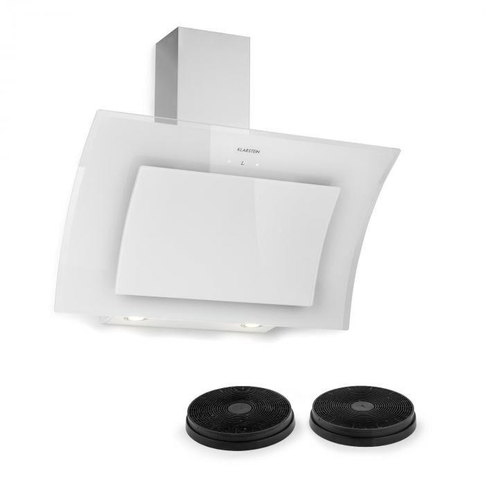 Klarstein Set Sabia 90 Hotte aspirante 90cm + 2 filtres à charbon actif - blanc