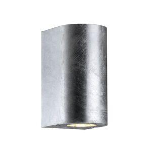 Nordlux Appliques d'extérieur Nordlux CANTO MAXI-Applique d'extérieur 2 lumières Métal H17cm Argenté