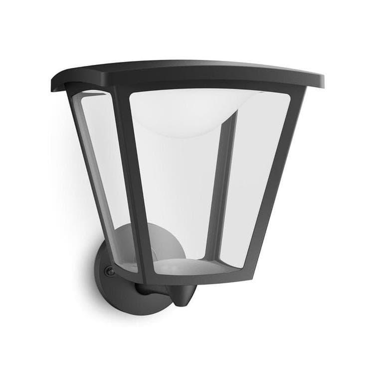 Philips Appliques d'extérieur Philips COTTAGE-Applique d'extérieur LED Montante H26,5cm Noir