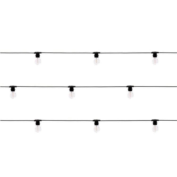 Seletti Guirlande lumineuse extérieur Seletti BELLA VISTA-Guirlande d'extérieur 10 Lumières Ampoule Verre L14m Noir