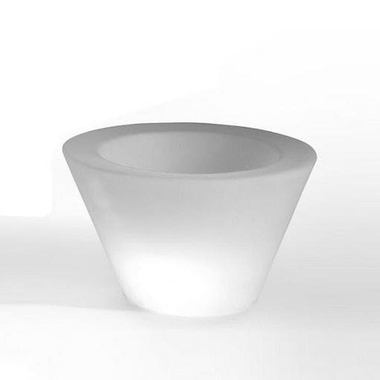 Slide Déco lumineuse extérieur Slide X-POT LIGHT-Pot lumineux d'exterieur H33cm et Ø56cm Blanc