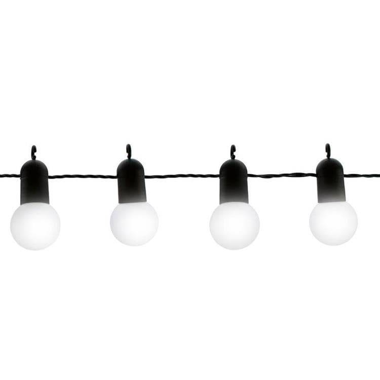 Blachere Illumination Guirlandes et objets lumineux d'extérieur Blachere Illumination FETE-Guirlande LED d'extérieur 15 Ampoules L9m raccordable Noir