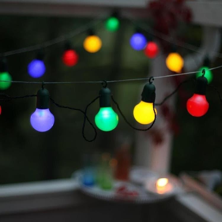 Best Season Guirlande lumineuse extérieur Best Season PARTY BALLS-Guirlande d'extérieur LED 20 Lumières à crochet L10,7m Multicolore