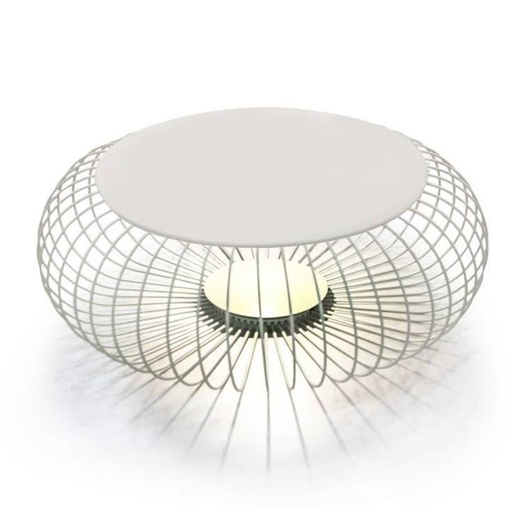 Vibia Déco lumineuse extérieur Vibia MERIDIANO-Lampe de sol/Table LED d'extérieur Ø92cm Beige