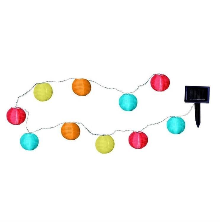 Best Season Guirlandes et objets lumineux d'extérieur Best Season PARTY BALLS-Guirlande Solaire LED d'extérieur 10 Lampions L4,7m Multicolore