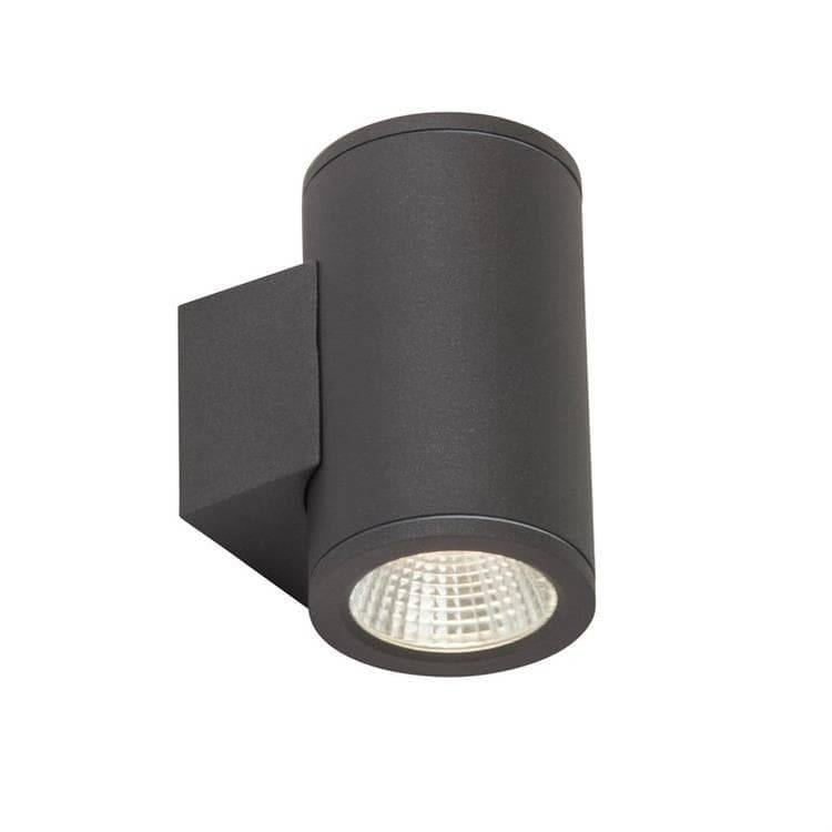 AEG Applique murale extérieur AEG ARGO-Applique d'extérieur LED 2 Lumières Aluminium & Verre H13.8cm Gris