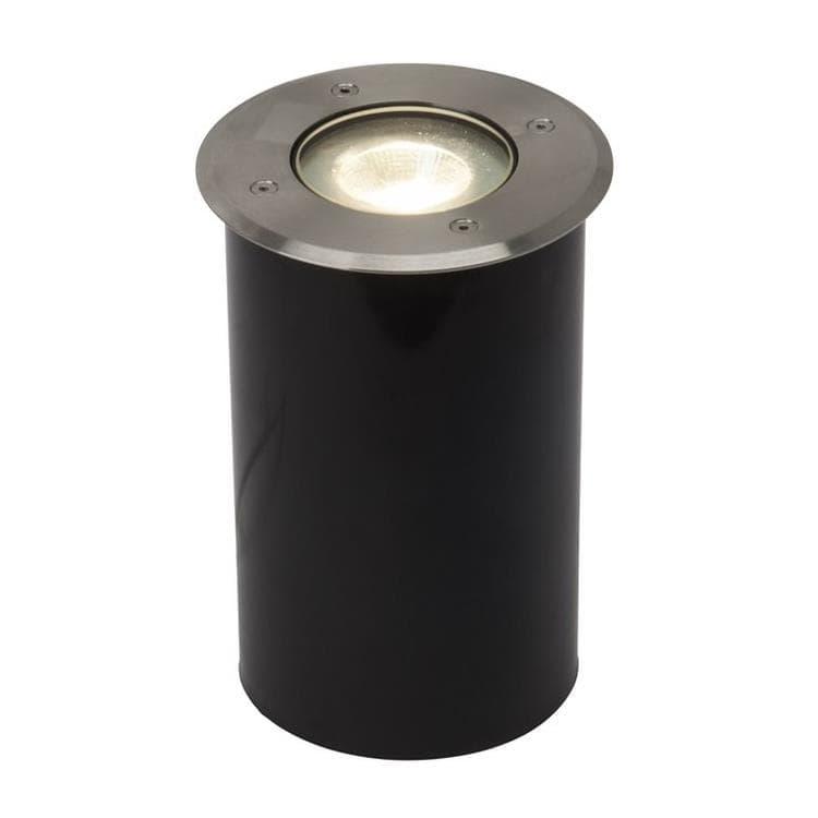 AEG Spot extérieur AEG U-GROUND-Spot d'extérieur LED à encastrer Acier brossé Ø12.5cm Gris