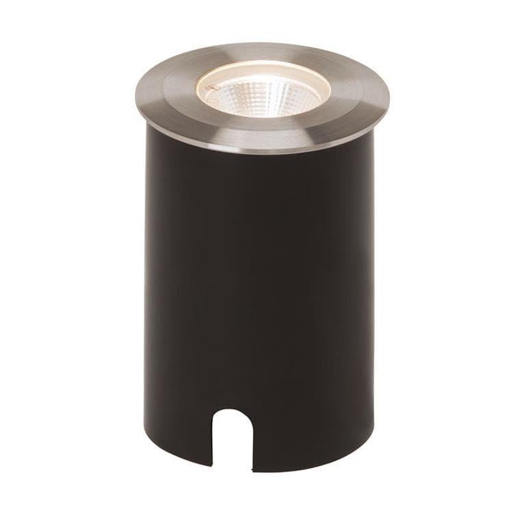 AEG Spot extérieur AEG U-GROUND-Spot d'extérieur LED à encastrer Acier brossé Ø8.8cm Gris