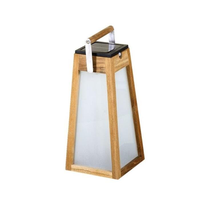 Les Jardins Lanterne extérieur Les Jardins TINKA TECKA-Lanterne d'extérieur LED rechargeable & solaire avec détecteur de mouvement Bois H38.8cm Bois