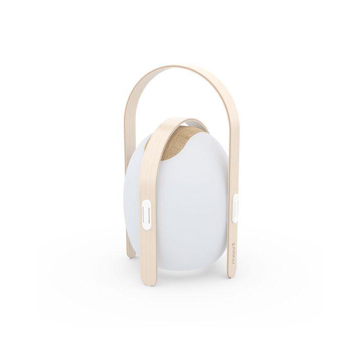 MOONI Lampe à poser extérieur MOONI OVO MINI-Lampe d'extérieur rechargeable RGB Bois/ABS H40cm Blanc