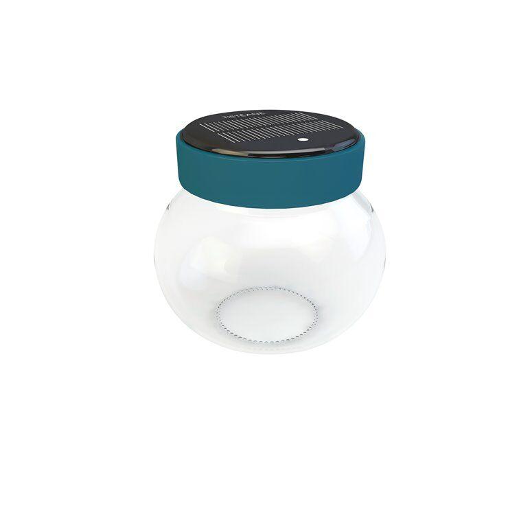Tisteane Lanterne extérieur Tisteane LEONARDO-Bocal solaire d'extérieur LED sans fil Tactile H11cm Bleu