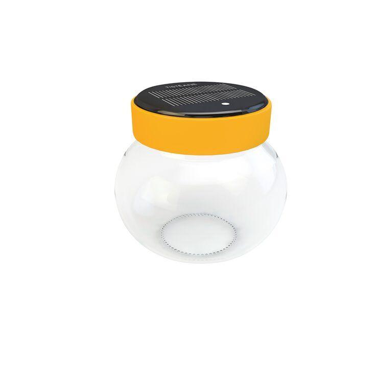 Tisteane Lanterne extérieur Tisteane LEONARDO-Bocal solaire d'extérieur LED sans fil Tactile H11cm Jaune