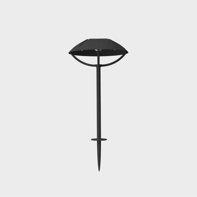 Maiori Borne extérieur Maiori PARABOLE-Borne d'extérieur LED solaire à planter Aluminium H32 ou 50cm Noir