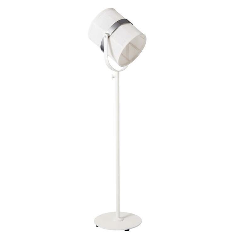 Maiori Lampadaire extérieur Maiori PARIS-Lampadaire d'extérieur LED solaire Aluminium/Textile outdoor H140-170cm Blanc