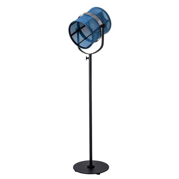 Maiori Lampadaire extérieur Maiori PARIS-Lampadaire d'extérieur LED solaire Aluminium/Textile outdoor H140-170cm Bleu