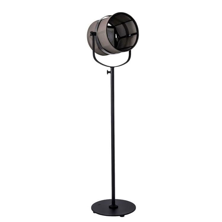 Maiori Lampadaire extérieur Maiori PARIS-Lampadaire d'extérieur LED solaire Aluminium/Textile outdoor H140-170cm Marron