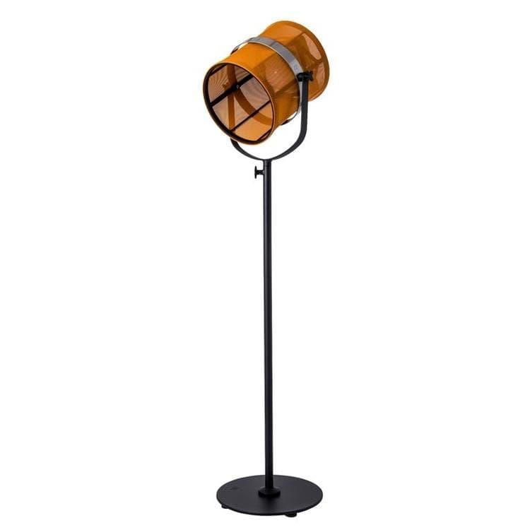 Maiori Lampadaire extérieur Maiori PARIS-Lampadaire d'extérieur LED solaire Aluminium/Textile outdoor H140-170cm Orange