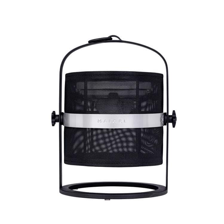 Maiori Lampe à poser extérieur Maiori PETITE-Lampe à poser / Lanterne d'extérieur LED solaire Aluminium/Textile outdoor H36cm Noir