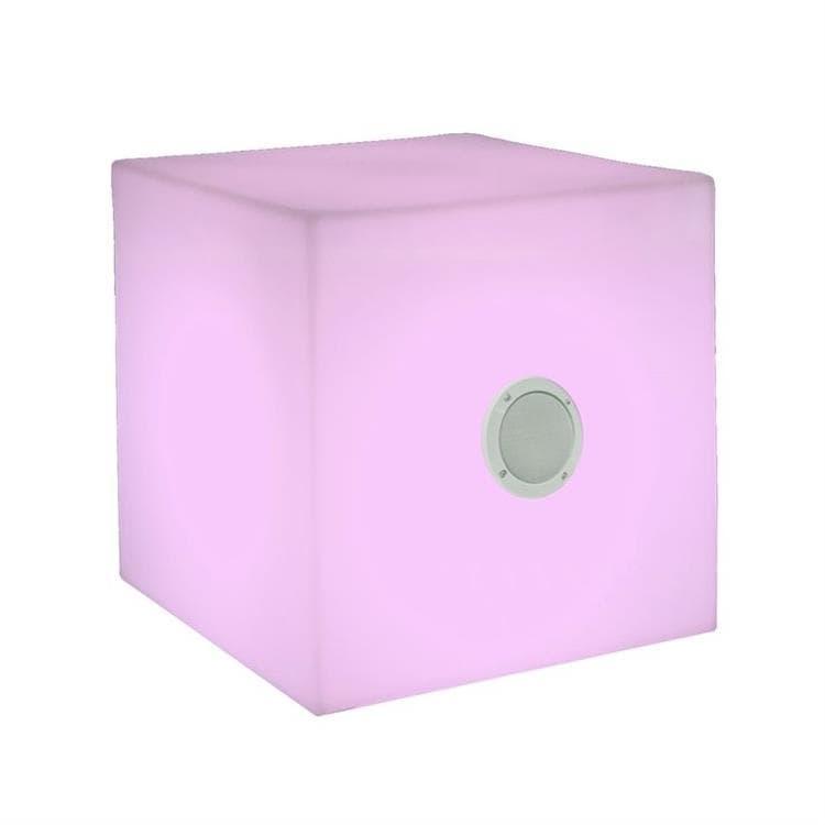 New Garden Déco lumineuse extérieur New Garden CUBY-Cube lumineux d'extérieur LED RGB avec enceinte H43cm Blanc