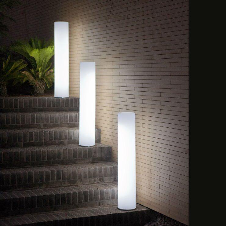 New Garden Lampe à poser extérieur New Garden FITY-Lampadaire d'extérieur / Colonne lumineuse LED RGB rechargeable H102cm Blanc