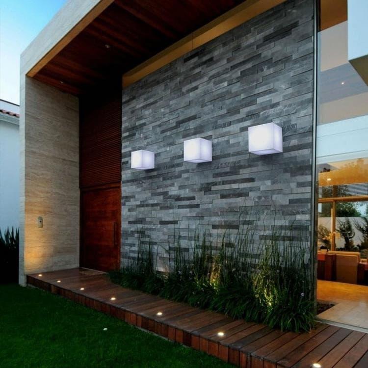 New Garden Applique murale extérieur New Garden CUBY-Applique d'extérieur Cube Polyéthylène L20cm Blanc