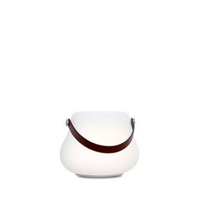 Nordic Dluxx Déco lumineuse extérieur Nordic Dluxx FLOWERPOT-Pot lumineux d'extérieur LED RGB avec enceinte bluetooth H16cm Blanc