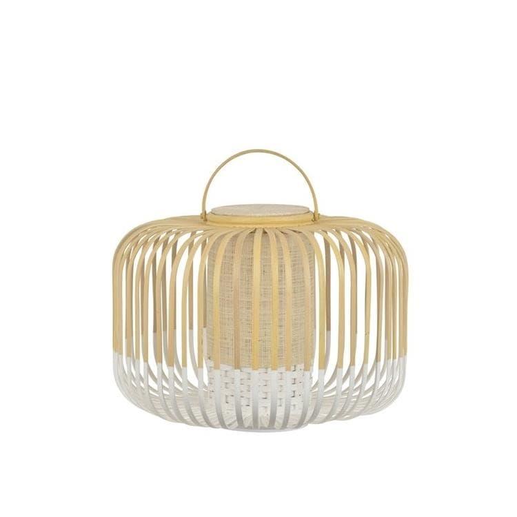 Forestier Lampe à poser extérieur Forestier TAKE A WAY S-Baladeuse LED d'extérieur sans fil Bambou H35cm Blanc
