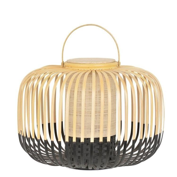 Forestier Lampes à poser d'extérieur Forestier TAKE A WAY S-Baladeuse LED d'extérieur sans fil Bambou H35cm Noir