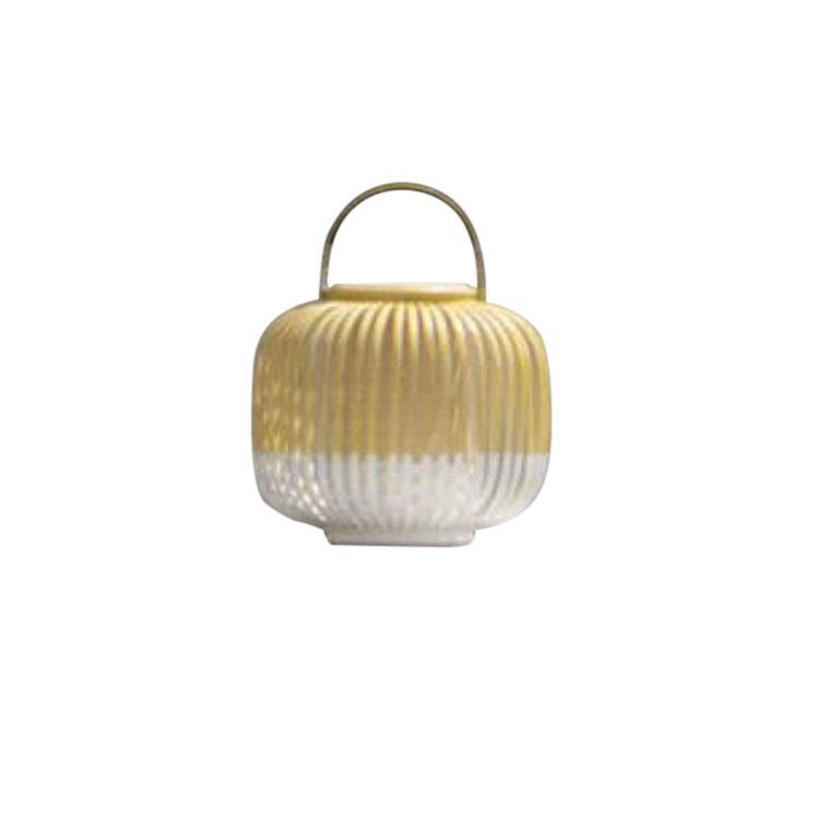 Forestier Lampes à poser d'extérieur Forestier TAKE A WAY XS-Baladeuse d'extérieur LED sans fil Bambou H29cm Blanc