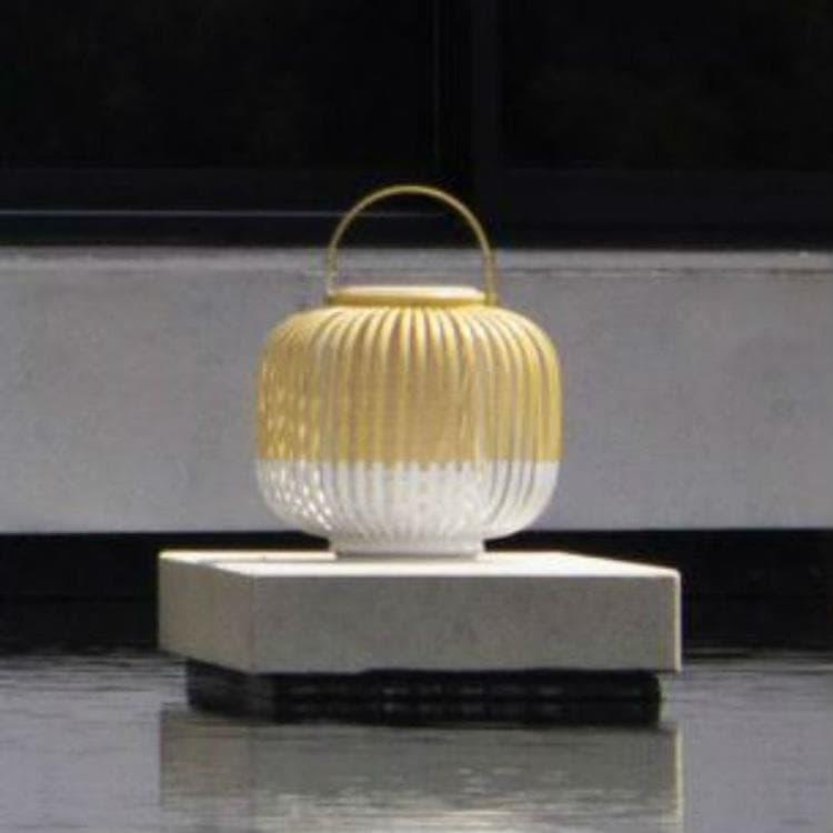 Forestier Lampe à poser extérieur Forestier TAKE A WAY XS-Baladeuse d'extérieur LED sans fil Bambou H29cm Blanc