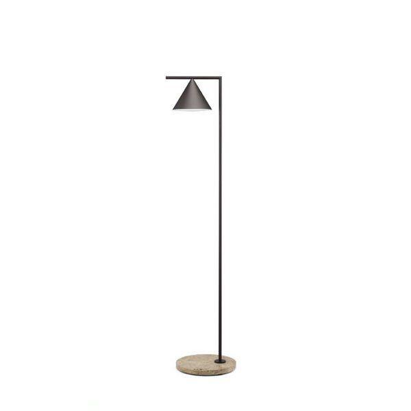 Flos Lampadaire extérieur Flos CAPTAIN FLINT OUT-Lampadaire d'extérieur LED avec variateur Métal/Pierre H163cm Marron