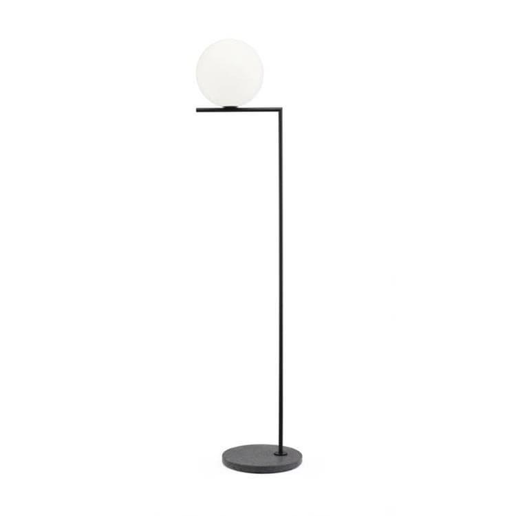 Flos Lampadaire extérieur Flos IC F2 OUT-Lampadaire d'extérieur avec variateur Verre/Métal/Pierre H185cm Noir