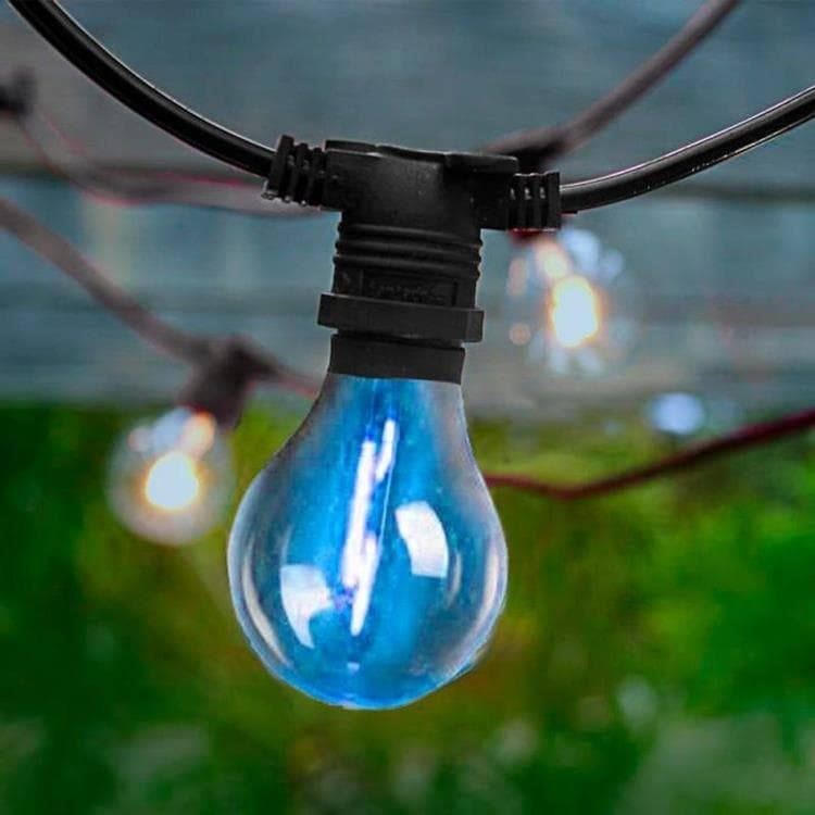 New Garden Guirlande lumineuse extérieur New Garden ALLEGRA-Guirlande lumineuse d'extérieur 20 lumières LED 10m raccordable avec télécommande Noir