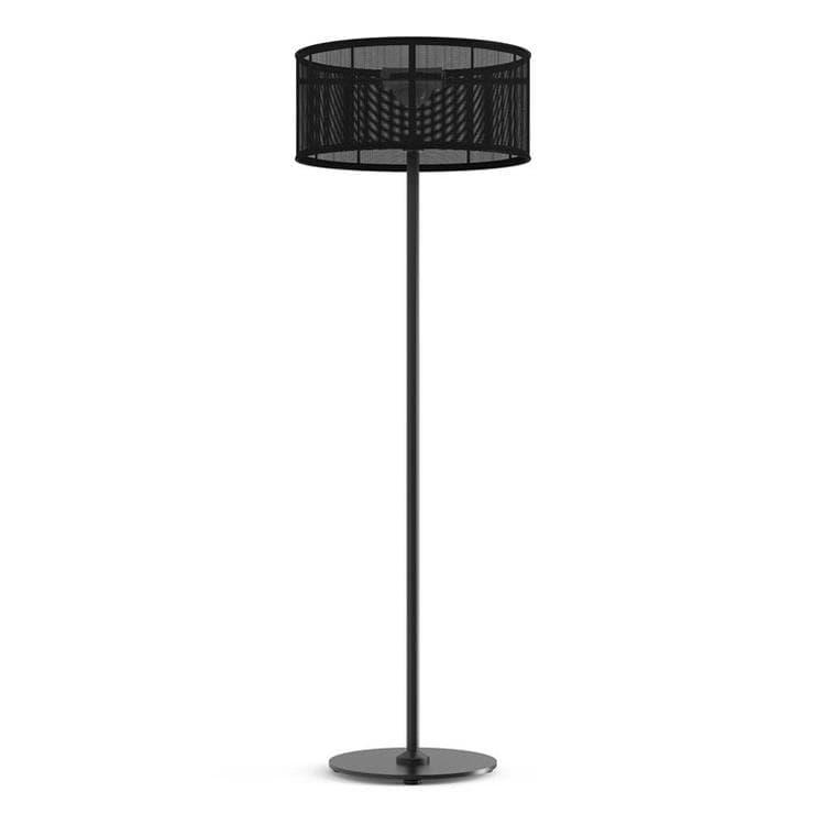 Maiori Lampadaire extérieur Maiori PADERE-Lampadaire d'extérieur LED solaire Aluminium/Textile H170cm Noir