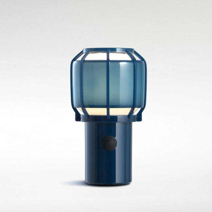 Marset Lampe à poser extérieur Marset CHISPA-Lampe sans fil Extérieure Polycarbonate/Métal H17.8cm avec crochet Bleu