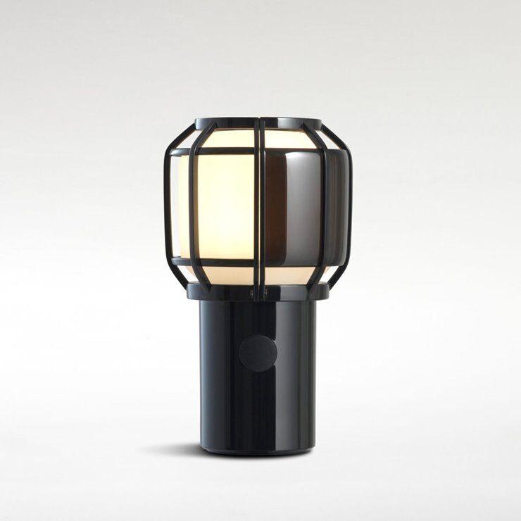 Marset Lampe à poser extérieur Marset CHISPA-Lampe sans fil Extérieure Polycarbonate/Métal H17.8cm avec crochet Noir