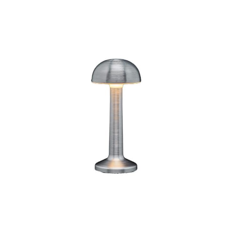 Imagilights Lampe à poser extérieur Imagilights MOMENT-Lampe baladeuse d'extérieur LED rechargeable Dôme H22,7cm Argenté