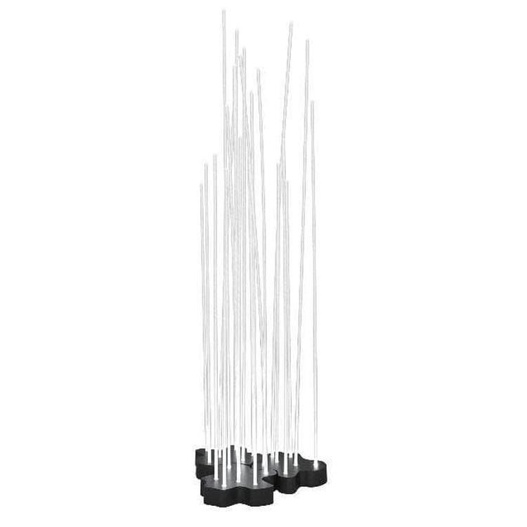 Artemide Lampadaire extérieur Artemide REEDS-Lampadaire d'extérieur LED 21 tiges H1,49m Transparent