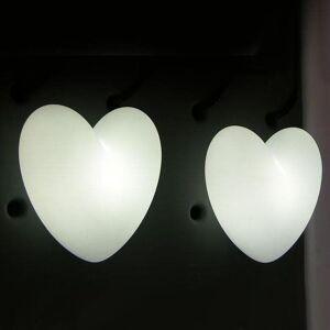 Slide Applique murale Slide LOVE-Applique Coeur H40cm Blanc - Publicité