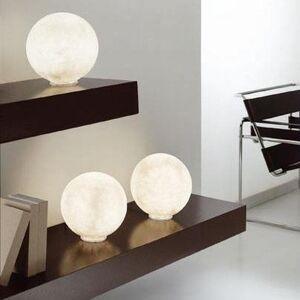 In-es Artdesign Lampe à poser In-es Artdesign T. MOON MICRO-Lampe Nebulite Ø18cm Blanc - Publicité