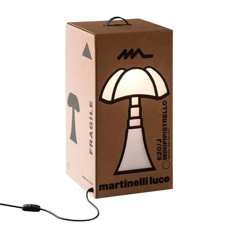 Martinelli Luce Lampe à poser Martinelli Luce MINI PIPISTRELLO CARTON-Lampe à poser Carton Mini Pipistrello H62cm Marron