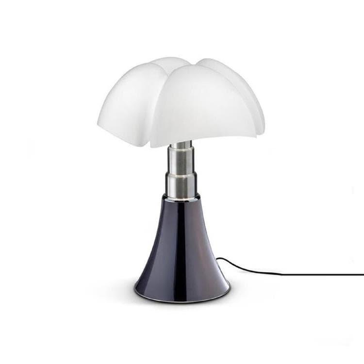 Martinelli Luce Lampe à poser Martinelli Luce MINI PIPISTRELLO-Lampe Dimmer Touch LED H35cm Argenté