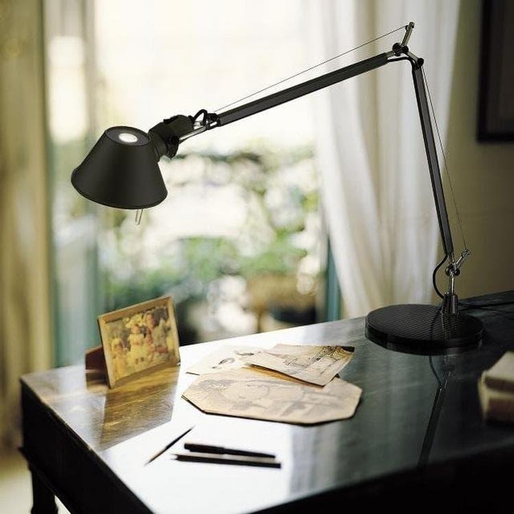 Artemide Lampe à poser Artemide TOLOMEO MINI-Lampe de bureau H54cm Noir