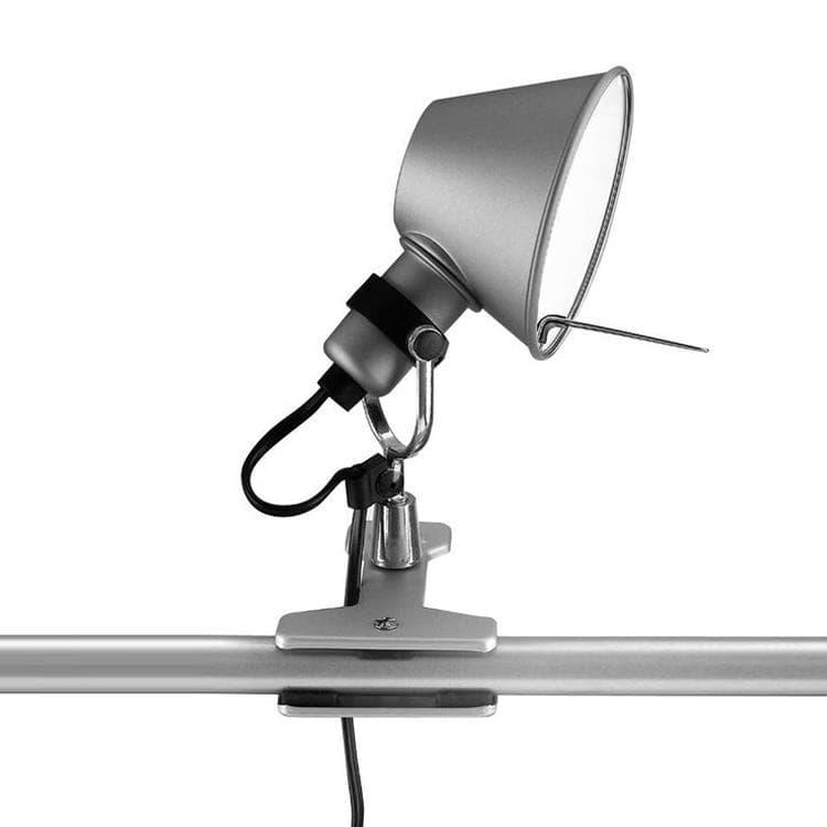 Artemide Lampe à poser Artemide TOLOMEO MICRO-Lampe à pince Orientable H20cm Argenté