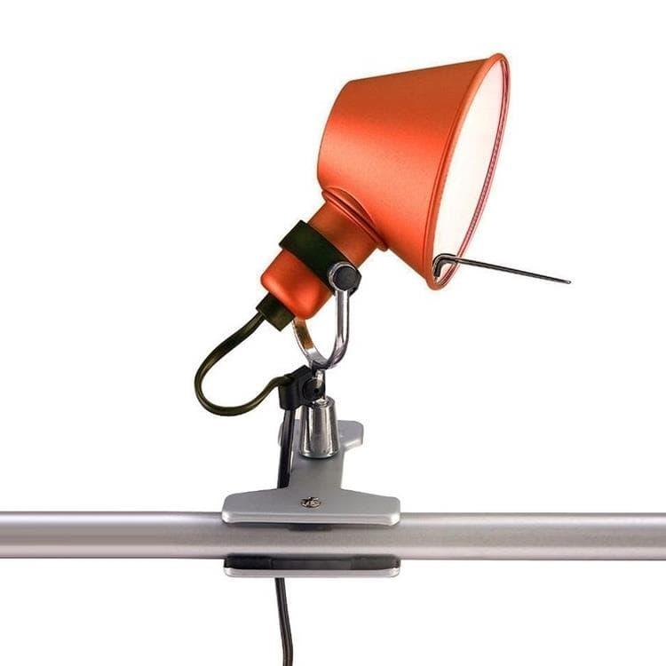 Artemide Lampe à poser Artemide TOLOMEO MICRO-Lampe à pince Orientable H20cm Rouge
