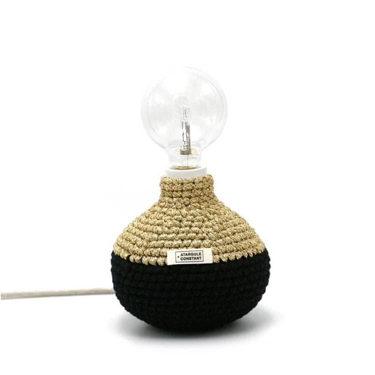 Atargule + Constant Lampe à poser Atargule + Constant BI HOOK-Lampe à poser Textile tricoté H18cm Noir