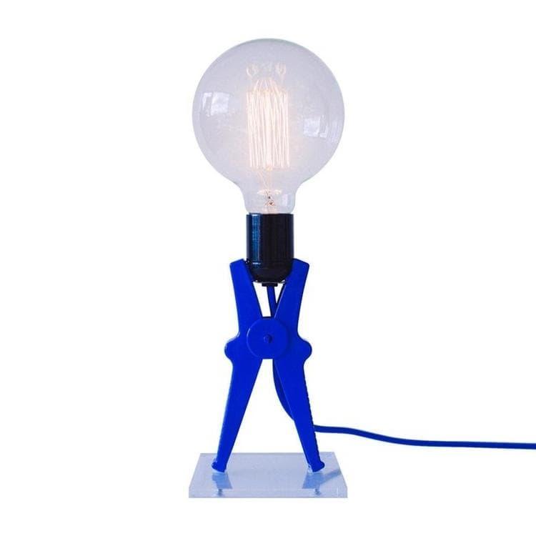 Monsieur Kacha Lampe à poser Monsieur Kacha CROCO-Lampe à poser Pince H36cm Bleu